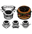 monochrome and color burger with design options vector image vector image
