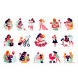 mothers day icons collection vector image