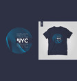 new york city graphic t-shirt abstract design vector image vector image