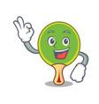 okay ping pong racket character cartoon vector image vector image
