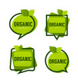 organic product green leaves logo frames vector image vector image