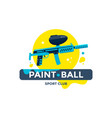 paintball sport club emblem or logo design vector image vector image