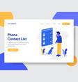 phone contact list vector image vector image