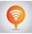 pin with wifi icon vector image
