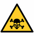 poison hazard sign vector image vector image