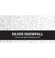 polka dot pattern set silver snowfall seamless vector image vector image