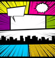 pop art comic book colored backdrop vector image vector image