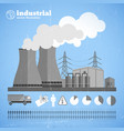 production chemical plant template vector image vector image