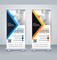 professional business rollup banner standee design vector image vector image