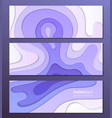 purple abstract layout - set of modern colorful vector image