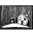 Rain house vector image vector image