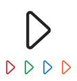 right arrow icon vector image vector image