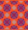 rosette shapes folk seamless pattern orange vector image vector image