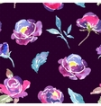 seamless watercolor rose floral pattern vector image vector image