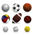 Set of sport balls on white background