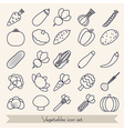 Set of vegetable icons vector image