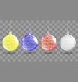 shiny christmas ball realistic christmas balls set vector image