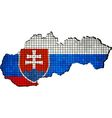 Slovakia map grunge mosaic vector image vector image