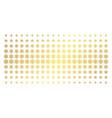 snowflake gold halftone pattern vector image