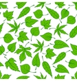 Spring green leaves seamless pattern background vector image vector image