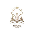 spruce forest logo vector image