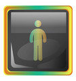 standing man grey icon with colorful details on vector image vector image
