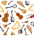 stringed musical instrument with strings vector image vector image