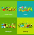 summer camping concepts set vector image vector image