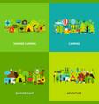 summer camping concepts set vector image vector image
