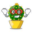 super hero character mammillaria cactus at cactus vector image