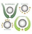 the theme handball vector image vector image