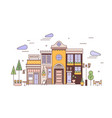 urban landscape with facades exquisite european vector image vector image