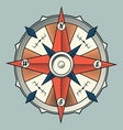 Vintage colourful graphic compass vector image vector image