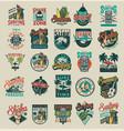 vintage surfing emblems vector image vector image