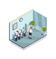 waiting for interview composition vector image vector image