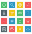 white thin line icons set for web and mobile vector image