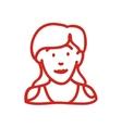 Woman icon Human head design graphic vector image vector image
