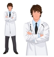 Young man doctor vector image