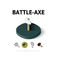 Battle-Axe icon in different style vector image