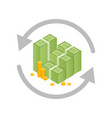 money exchange and conversion concept vector image