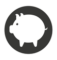 pig cute animal character farm vector image
