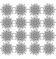 Black and white abstract flowers print pattern vector image