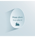 Easter background with egg vector image