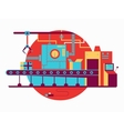 Conveyor design flat vector image