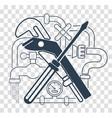 icon plumbing black vector image