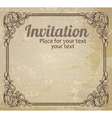 Vintage frame and grungy background vector image