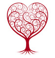 abstract heart tree vector image vector image