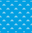 army hat pattern seamless blue vector image vector image