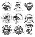bass fishing labels perch fish emblems templates