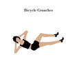 bicycle crunches exercise workout vector image vector image